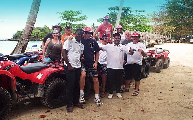 ATV Tours in Samana to famous Playa Rincon beach.
